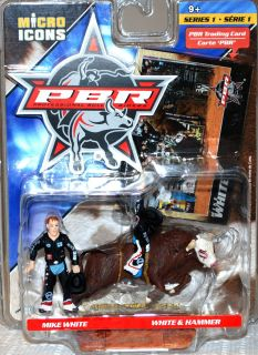 Mike White and Hammer Micro Icons PBR Professional Bull Rider Series 1