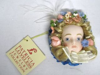 Patricia Loveless Jewelry Collection Mina Doll Brooch Pin Lim Ed