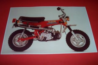 HONDA TRAIL 70 DIRT BIKE MINI BIKE POSTER CT70 xr vintage motorcycle