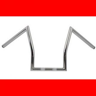 Chrome Lazy Z Bars Handlebars for Harley Models Bobber Chopper