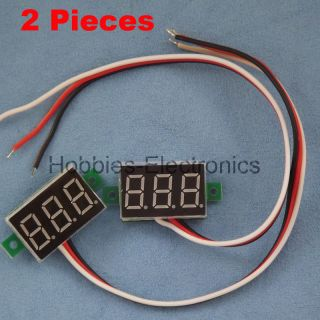 PCS Mini 3 Digital LED DC 0 100 V RED Volt Voltage Meter Voltmeter 3
