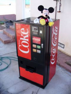 Mini Coca Cola Soda Vending Machine Only 4 5 ft Dixie Narco