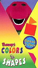 Barney   Barneys Colors Shapes VHS, 1997, 2 Tape Set