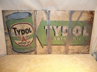 Vintage Flying A Tydol Motor Oil Gas Station Repair Shop Metal Sign