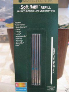 Mini Monteverde Super Broad Black Ballpoint Refills