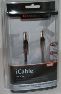 iCable 3.5mm auxilliary cable for Ipod,Iphone,Ipad, .1/8 mini jack