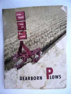Dearborn racor Plows vg 1951 Ford farm brochure booms discs 2 way