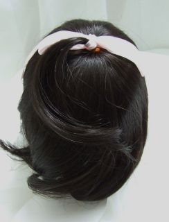Size 14/15 Partial Cap Brown/Black Doll Wig Baby, Reborn OOAK BJD