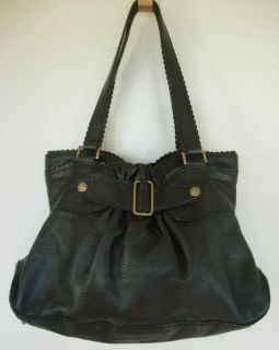 MIMO Molly Black Leather Purse Handbag Hobo Shoulder Bag