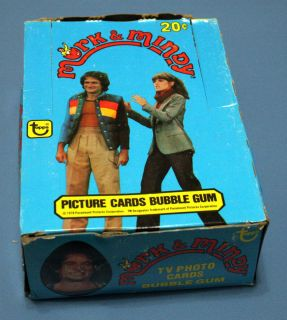 Mork Mindy Trading Cards Wax Box of 36 Wack Packs Mork and Mindy