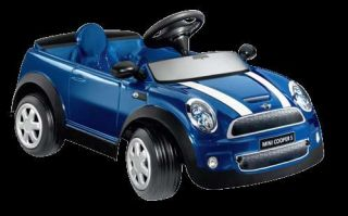 Mini Cooper s Cabrio Blue Pedal Car Baby Toy New