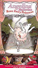 Angelina Ballerina   Rose Fairy Princess VHS, 2002