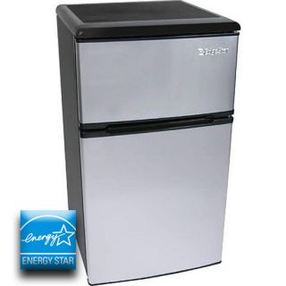 Stainless steel reversible mini refrigerator freezer compact beverage