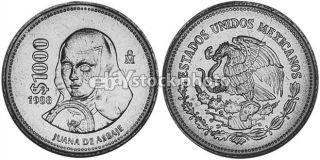 Mexico 1000 Pesos, 1988, Juana de Asbaje
