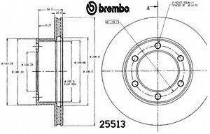 Brembo 25513 Disc Brake Rotor