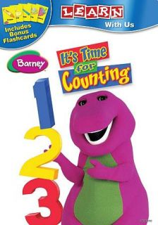 Barney   Its Time For Counting DVD, 2011, With Flashcards