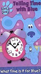 Blues Clues   Telling Time With Blue VHS, 2002