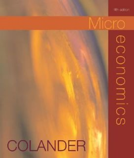 Microeconomics by David C. Colander 2003, CD ROM Paperback, Revised