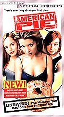 American Pie VHS, 2000, Special Edition   Unrated Version