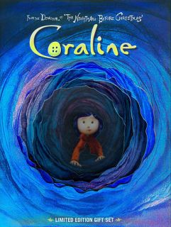 Coraline DVD, 2009, 2 Disc Set, Gift Set Includes Digital Copy With 3D