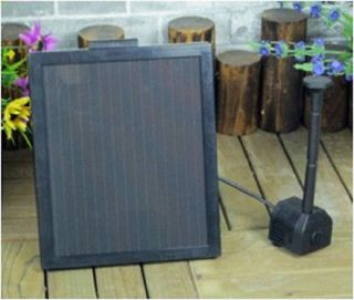 Watt Solar Panel Water Pump Battery Timer LEDs Light Combo Kit
