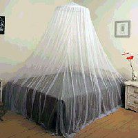 HANG UP WHITE MOSQUITO BUG SCREEN NET CANOPY NETTING FOR OVER THE BED