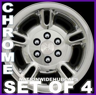 SETOF4 15 DURANGO CHROME Wheel Skins Full Rim Hub Caps Covers 6Lug