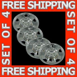 05 07 Ford Superduty 17 Chrome Wheel Skin Hubcaps Covers Hub Cap Set