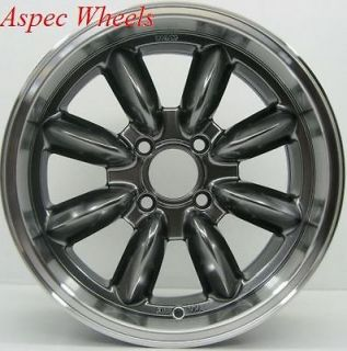 17X7.5 ROTA RB ROYAL HYPER BLACK RIMS 4X100 WHEELS EXCLUSIVE FOR MINI