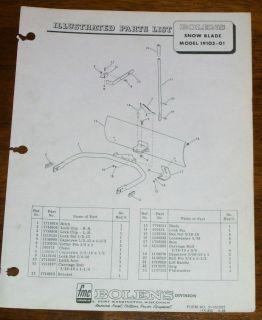 Bolens19105 01 Snow Blade Installation Manual
