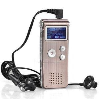 8GB USB Sound Control Digital Voice Recorder 3D  Player LP/SP/HQ