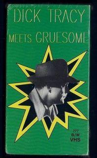 NEW VHS DICK TRACY MEETS GRUESOME Boris Karloff Ralph Byrd Anne