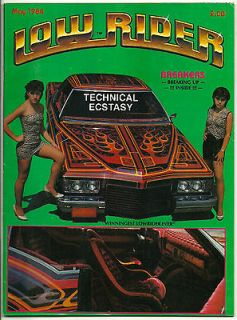 LOW RIDER MAGAZINE MAY 1984 RARE CHICANO CAR CLUB LOWRIDER TEEN ANGEL
