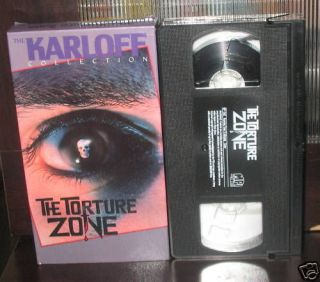 The BORIS KARLOFF Collecton The Torture Zone VHS