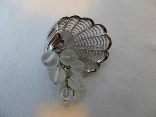 PARK LANE,Silver Metal,Frosted Crystal Bead Pin