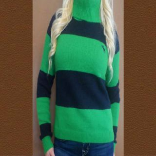 Abercrombie by Hollister Womens turtle neck sweater shirt top Size
