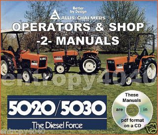 Allis Chalmers AC 5020 5030 Tractor Shop Service & Operator Manual  2