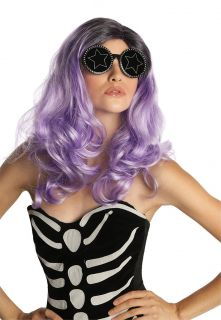 Purple Fame Monster Adult Wig Costume Accessory NEW Lady Gaga