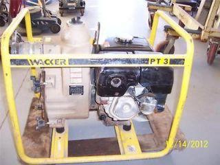 Wacker PT 3 Used Waste Water Trash Pump