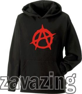 BLACK HOODIE HOODY PUNK ROCK PROTEST GOTH SKATER 80s MUSIC TECHNO RIOT