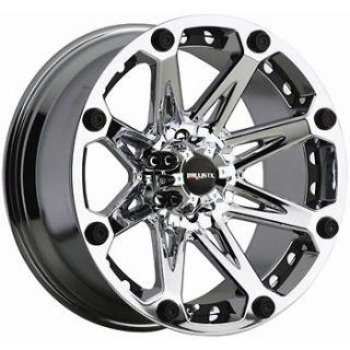 22x9.5 Chrome Ballistic Jester Wheels 8x6.5 +12 HUMMER H2