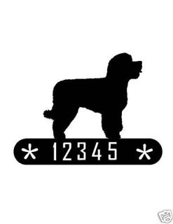 PORTUGESE WATER DOG METAL HOME ADDRESS SIGN HOUSE