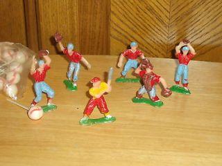 Vintage 1970s plastic Wilton baseball figures cake decorations