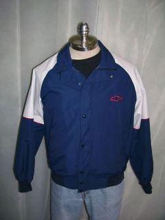VTG 1992 Chevrolet Chevy Bow Tie Technician Jacket Windbreaker Lrg