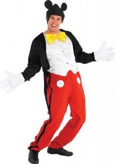 Adult XL Licensed Disney Mickey Mouse Fancy Dress Costume Mens Gents
