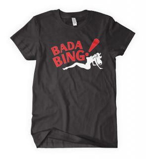 BADA BING T shirt Sopranos Mafia Strip Club jersey NEW