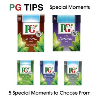 PG TIPS SPECIAL MOMENTS TEA BAGS   EARL GREY, FRESH, EVENING, STRONG