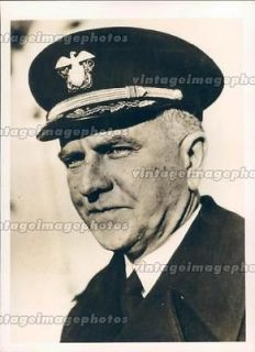 1942 David Bagley Rear Admiral Navy Commander Military Uniform Hat