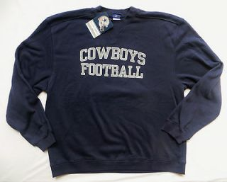 Dallas Cowboys Sweatshirt Authentic Fleece Crew Top New XLarge
