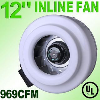 Inch Inline Duct Exhaust Fan Air Blower Vent Cooling Hydroponics Cool